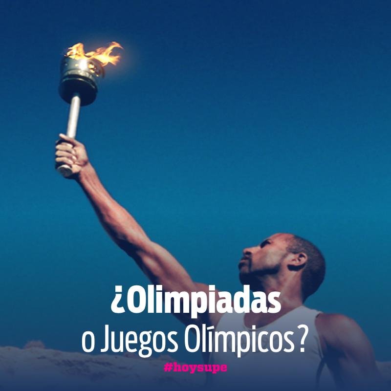 Olimpiadas y Juegos olímpicos