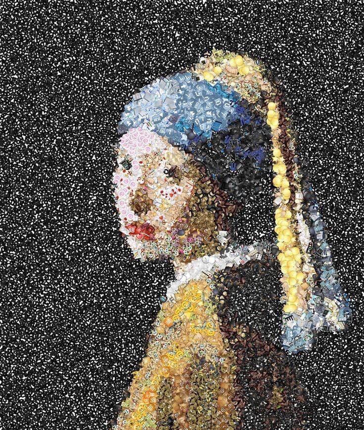 La joven de la perla con emojis