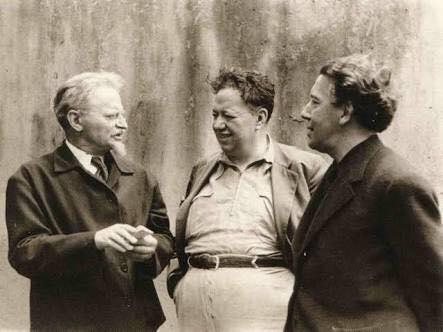 León con Diego Rivera